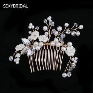 Bridal flower hair comb jewelry rhinestone new